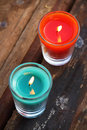 Candle colorful sweet scent in thailand Royalty Free Stock Photos