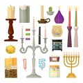 Candle different forms candlelight flame decorative wax candlestick