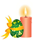 Candle and the egg Royalty Free Stock Photos
