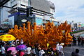 Candle festival in thailand site carving contest at nakhon ratchasima province Stock Image