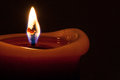 Candle flame macro shot of a single Royalty Free Stock Photography