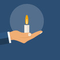 Candle in hand man Royalty Free Stock Photo