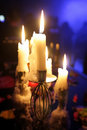 Candle-holder in a disco Royalty Free Stock Photo