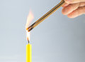 Candle is the ignite of incense light Stock Photos