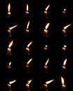Candle light collection of in many different form Royalty Free Stock Image