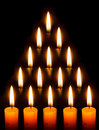 Candle light in the dark Royalty Free Stock Photos
