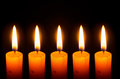 Candle light in the dark Royalty Free Stock Images