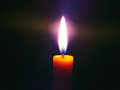 Candle light in dark spectra spectra night abstract ttzanzone z f Stock Photography