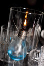 A candle made ​​of light bulb Royalty Free Stock Photo