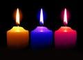 Candle  Orange Pink Blue Color...