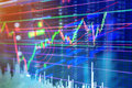Candle stick graph chart of finance stock market investment trad Royalty Free Stock Photo