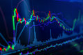 stock image of  Candle stick graph chart of stock market investment tradin busin