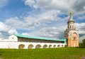 Candle tower borisoglebsky monastery the town of torzhok tver region Stock Images