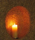 Candle in wall Royalty Free Stock Photos