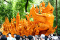Candle wax festival ubon ratchathani thailand july the candles are carved out of thai art form ubon on july Stock Photos