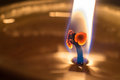 Candle wick macro shot of a and flame Stock Photography