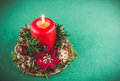 Candle for Xmas Royalty Free Stock Photo