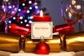 Candlelight Christmas dinner table