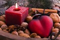 Candlelight with Heart Royalty Free Stock Photos