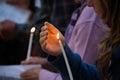 Candlelight vigil Royalty Free Stock Photo