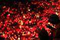 Candles alight in memoriam late Czech president Vaclav Havel Royalty Free Stock Photo