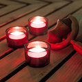 Candles burning for a soothing massage Royalty Free Stock Photography