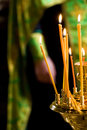 Candles in church Stock Photography
