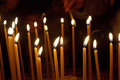 Candles in the Church of the Holy Sepulchre Royalty Free Stock Photography