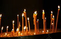 Candles closeup in church the Royalty Free Stock Photo