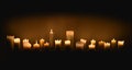 Candles in dark Royalty Free Stock Photo