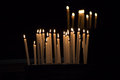 Candles in the dark Royalty Free Stock Photo