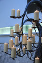 Candles at a funeral service group of burning Royalty Free Stock Images