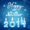 Candles happy new year illustration Royalty Free Stock Photography