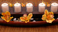 Candles and Orchids Royalty Free Stock Photo