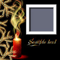 Candles and photo frame Royalty Free Stock Image