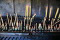 Candles at the sanctuary of Fatima Stock Photography
