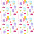 Candles seamless pattern.