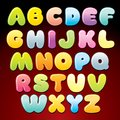 Candy alphabet multicolored shiny vector letters this is file of eps format Stock Images