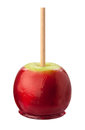 Candy apple with clipping path isolated Stock Photography