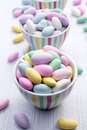 Candy buffet a featuring bright and colorful jordan almonds Royalty Free Stock Images
