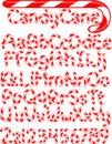 Candy Cane Alphabet/eps