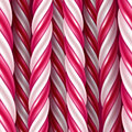 Candy cane background. Seamless horizontal pattern. Vector illustration.