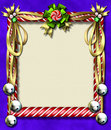 Candy cane-bell frame Royalty Free Stock Photo