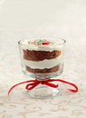 Candy Cane chocolate trifle Royalty Free Stock Image