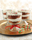 Candy Cane chocolate trifle Royalty Free Stock Photos