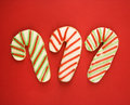Candy cane cookies. Stock Photos