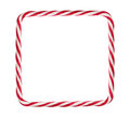 Candy cane frame Royalty Free Stock Photo
