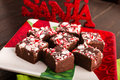 Candy Cane Fudge Stock Photo