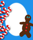 Candy Cane Gingerbread man Stock Photos