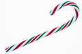 Candy cane isolated on a white background red green and Royalty Free Stock Photo